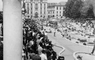 Slika: Tekmovanje Kaj veš o prometu v Ljubljani, 10.september 1989