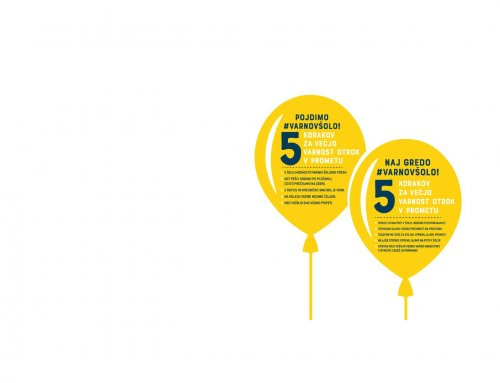 Na prvi šolski dan bodo Slovenijo preplavili rumeni baloni