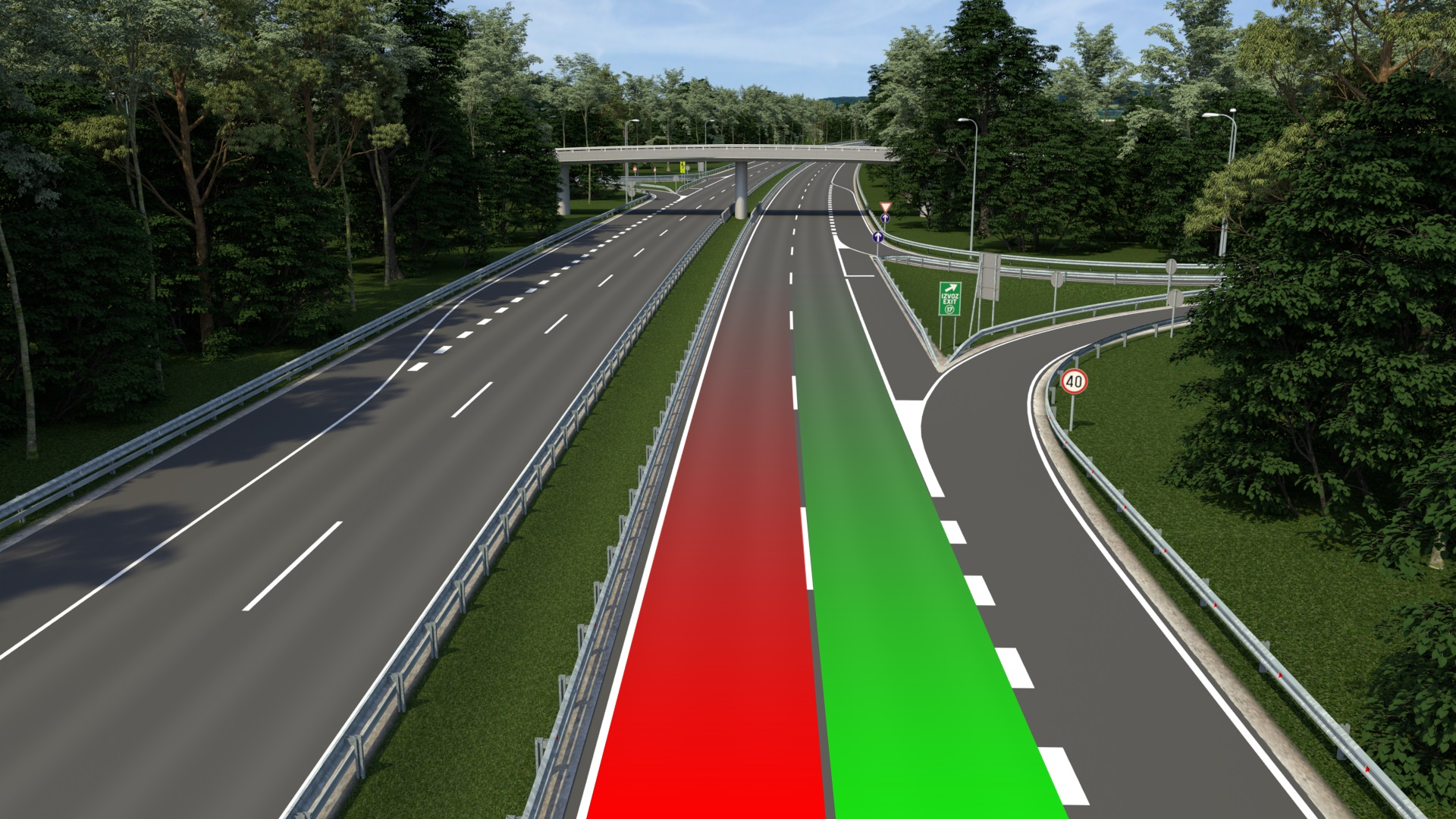 Avtocesta - vozi desno, prehitevaj levo!