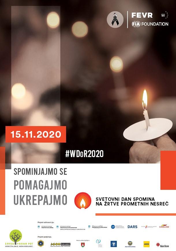 Svetovni dan spomina na žrtve prometnih nesreč_uradni plakat