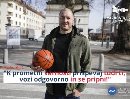 Začenja se nacionalna preventivna akcija, v kateri v novem videospotu na pomen uporabe varnostnega pasu opozarja tudi košarkarska legenda Marko Milič