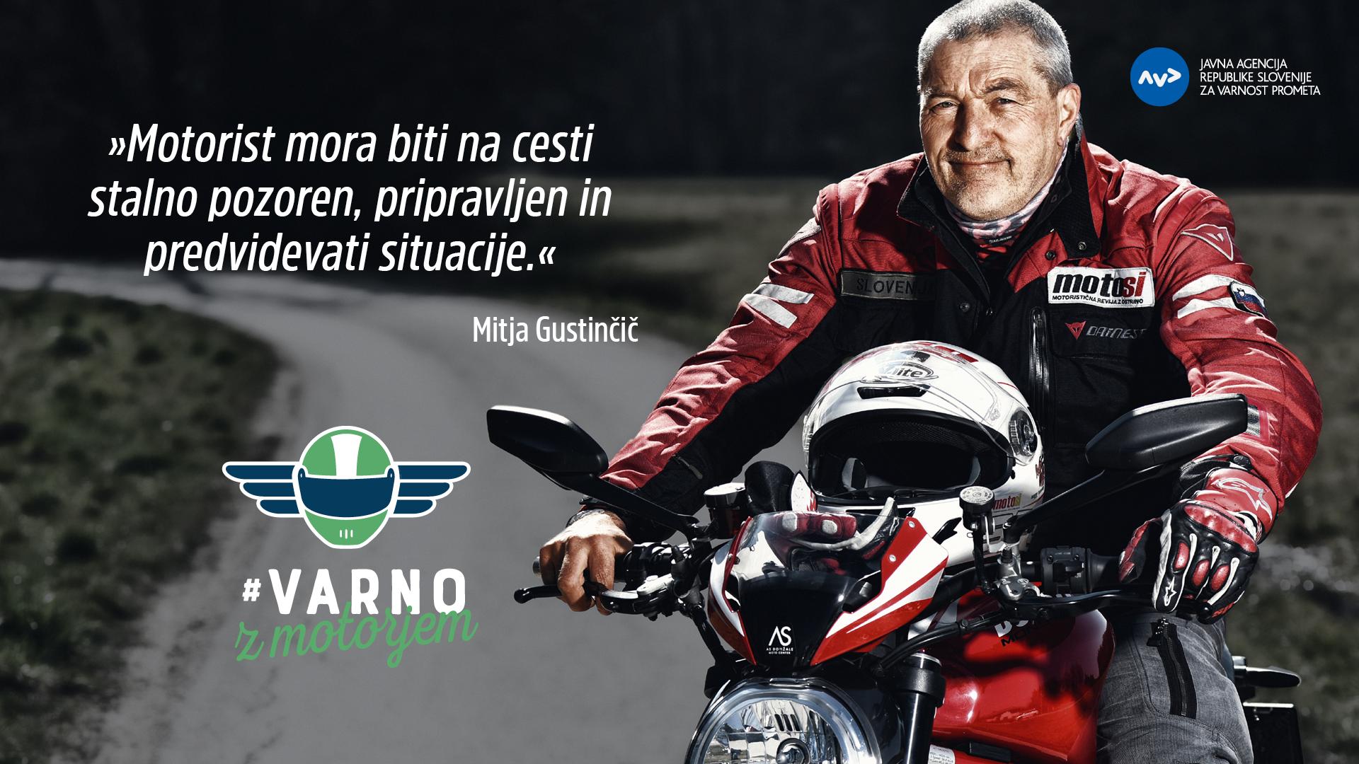 Mitja Gustinčič - #VarnoZMotorjem
